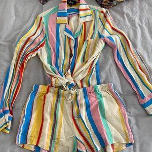 Lulus striped set